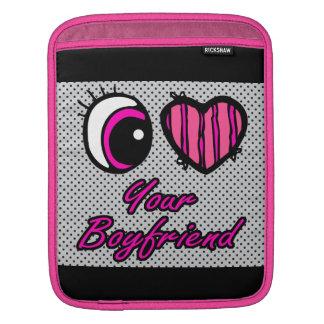 Emo Eye Heart I Love Your Boyfriend iPad Sleeves