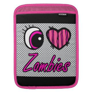 Emo Eye Heart I Love Zombies Sleeves For iPads