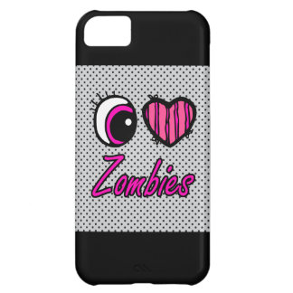 Emo Eye Heart I Love Zombies iPhone 5C Cover