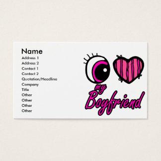 Emo Eye Heart I my Boyfriend Business Card