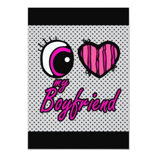 Emo Eye Heart I my Boyfriend Card