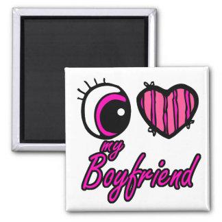 Emo Eye Heart I my Boyfriend Refrigerator Magnets