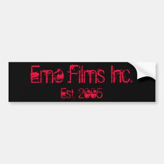 Emo Films Inc., Est. 2005 Bumper Sticker PINK