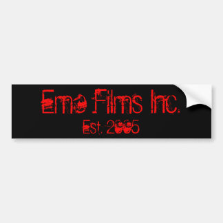 Emo Films Inc., Est. Pegatina para el parachoques  Pegatina Para Auto