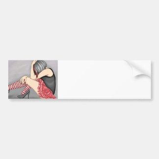 Emo Girl Bumper Sticker