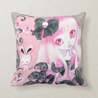Emo Girl: Jennifer Throw Pillow