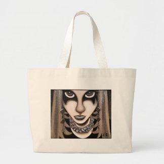 Emo Girl Large Tote Bag