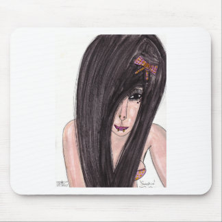 Emo Girl Mouse Pad