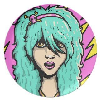 Emo Girl Plate