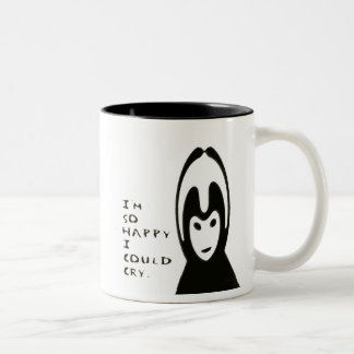 Emo Girl Two-Tone Coffee Mug