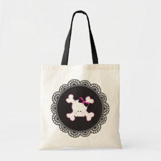 Emo goth cute skull tote bag