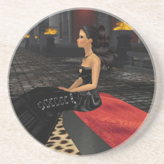 Emo Goth Girl Coaster