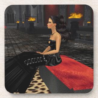 Emo Goth Girl Coasters