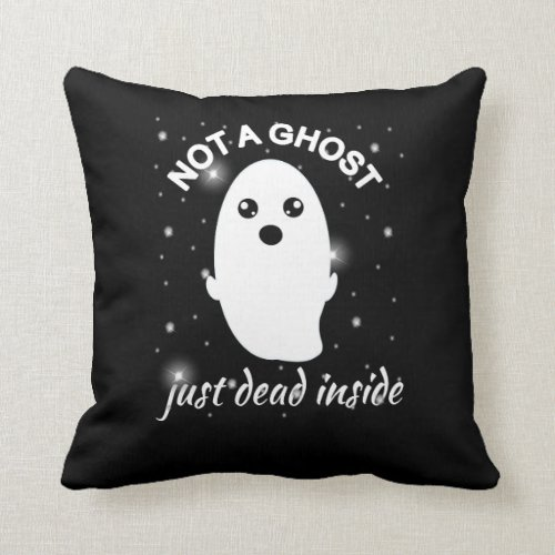 Emo Goth Not A Ghost Just Dead Inside Grunge Throw Pillow