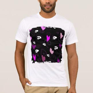 EMO Gothic Skulls & Hearts T-Shirt
