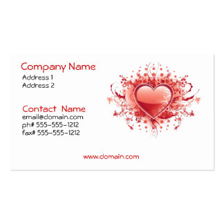 Emo Heart Business Card