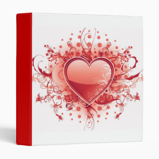 Emo Heart Design Binder