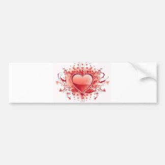 Emo Heart Design Bumper Stickers