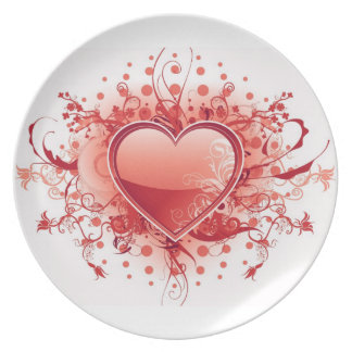 Emo Heart Design Plate