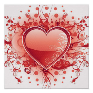 Emo Heart Design Poster