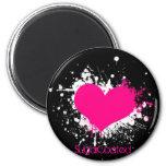 Emo Heart Magnet