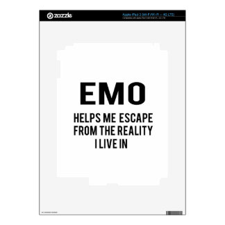 Emo helps me escape from the reality i live in iPad 3 decals