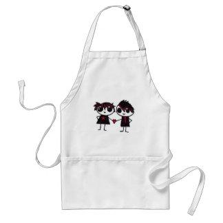 Emo in love aprons