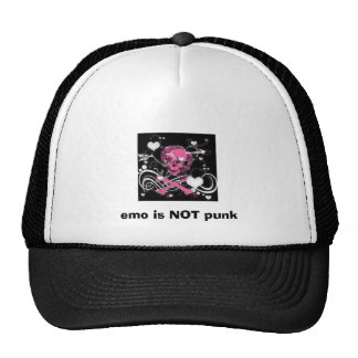 emo is NOT punk Mesh Hat