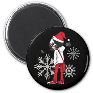 Emo Kid Christmas Gifts Magnets
