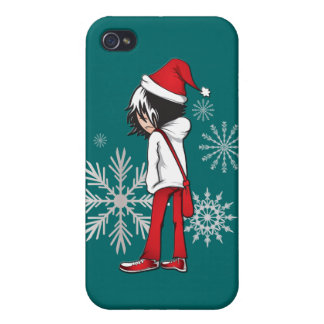 Emo Kid Christmas iphone 4 Case