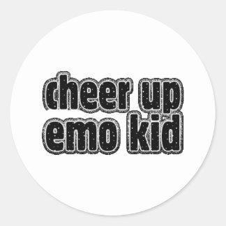 EMO KID CLASSIC ROUND STICKER