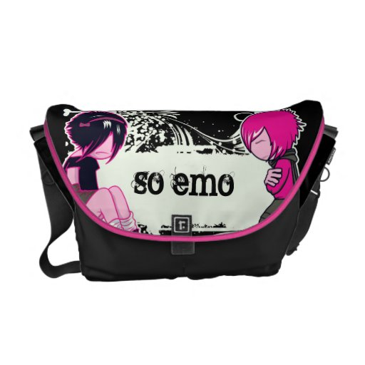 emo kids emo thoughts courier bags