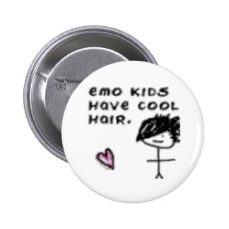 Emo kids have cool hair button