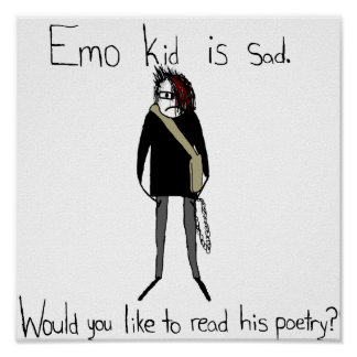 Emo Kid's Poetry Poster
