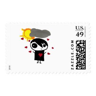 Emo Love (boy) Postage Stamps