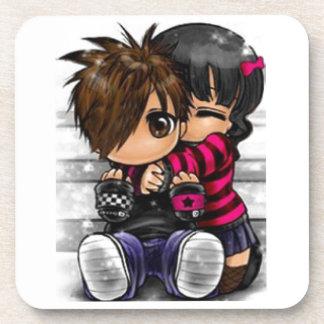 Emo Love Drink Coaster