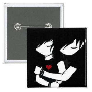 emo love pinback button