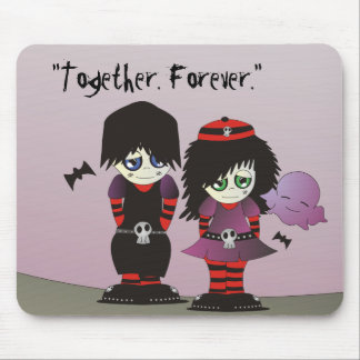 Emo Love: Together Forever Mouse Pad