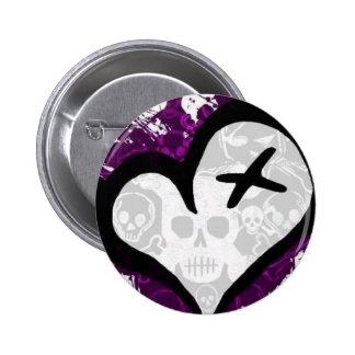 Emo Loveheart Pins