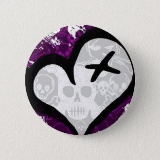 Emo Loveheart Pinback Button
