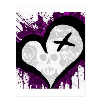 Emo Loveheart Postcard