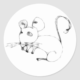 Emo Mouse Classic Round Sticker
