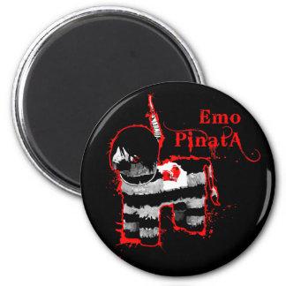 emo pinata 2 inch round magnet