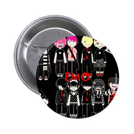 EMO PINBACK BUTTONS