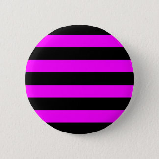 Emo Pink & Black Stripes - Alternative Grunge Rock Pinback Button