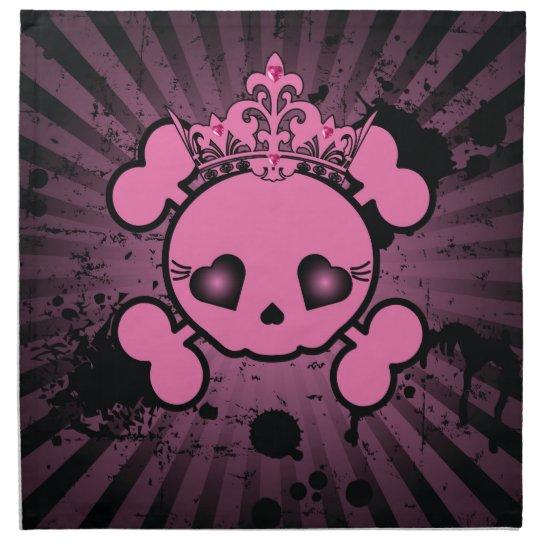 EMO Pink Skull Crossbones Girly Pirate Napkins