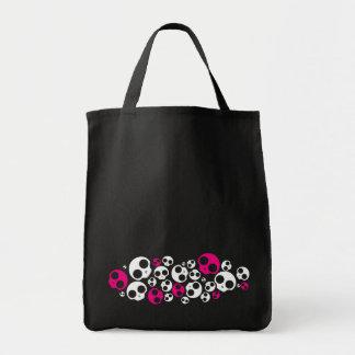 emo pink/white skull bag