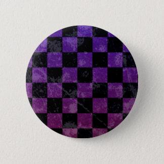 Emo punk checkerboard pinback button