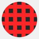 Emo raya rojo y negro - roca alternativa del etiqueta redonda