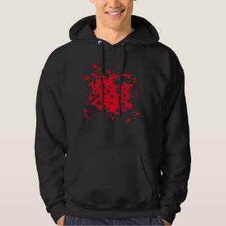 Emo Red Star Paint Splatter Hoodie